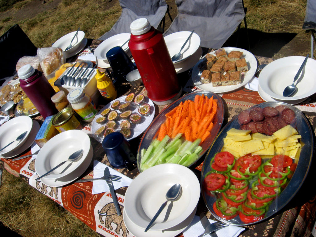 Kilimanjaro Food Menu
